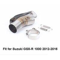for Suzuki GSX R GSXR 1000 2012 2013 2014 2015 2016 GSX R 1000 Motorcycle Moto Exhaust Muffler Mid Middle Pipe Tube Slip on New