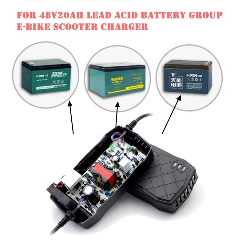 48V Smart Charger Electric Bike Power Supply E-Bike Scooter Charger 48V 20AH AC 220V For Lead Acid Battery 48V 12AH 14AH 20AH