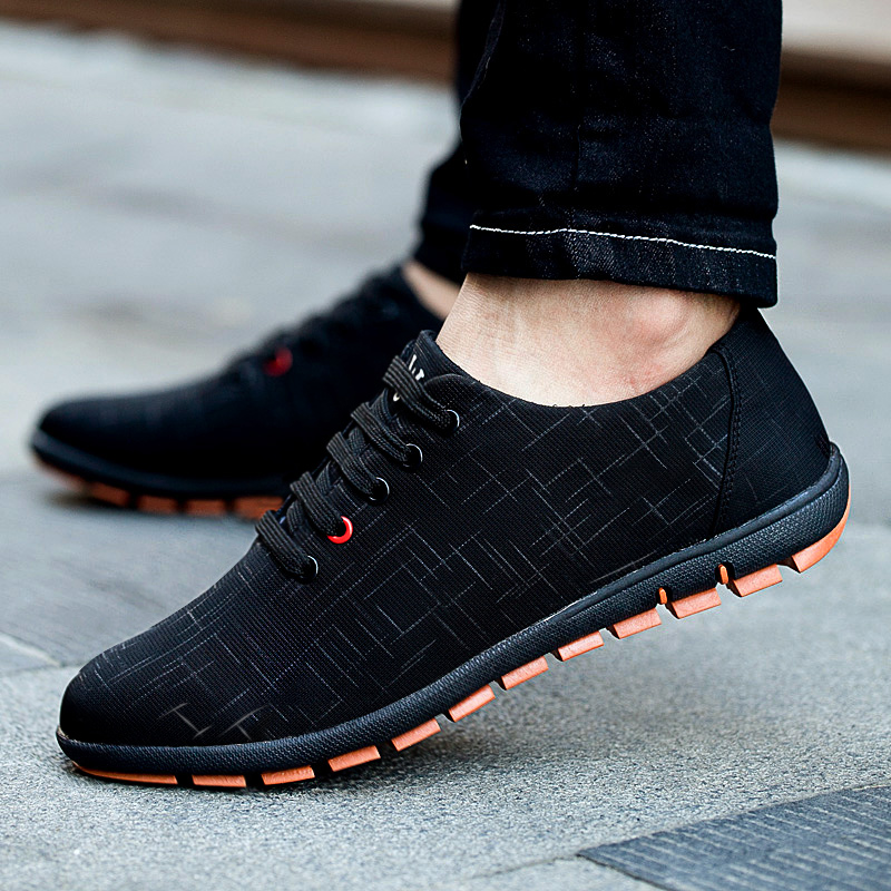 New Spring/Autumn Men Shoes Big Size Men's Casual Shoes Breathable Lace Up Canvas Flat Shoes For Men Zapatillas Hombre 45,46,47 plus size 39 44 men spring shoes 2017 spring air mesh shoes men breathable casual shoes for men hombres zapatillas e62