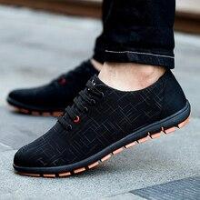 Nueva Primavera/Verano de Los Hombres, Además de Zapatos de Tamaño Zapatos Casuales Hombres Zapatos de Lona Transpirable Bajo Zapato de cordones Planos Zapatillas Hombre 45,46, 47