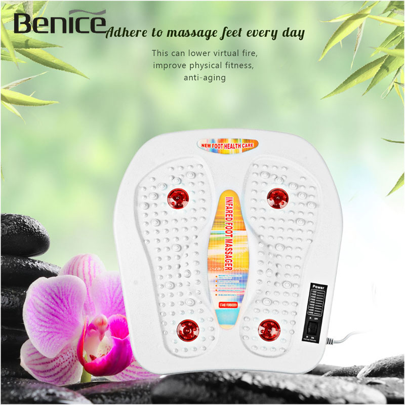 <font><b>Physical</b></font> infrared reflexology foot Massager electric Thermo-magnetic machine <font><b>vibration</b></font> massager circulation feet care A4243