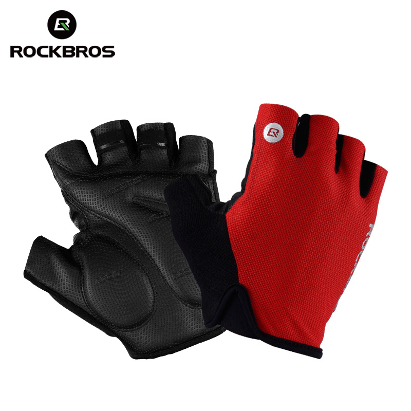 Cycling Gloves Half Finger Bicycle race Gel Padded Finger less Bike Mitts MTB