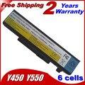 Bateria do portátil para Lenovo IdeaPad Y450 Y450A Y450G Y550 Y550A Y550P 55Y2054 L08S6D13 L08O6D13 L08L6D13