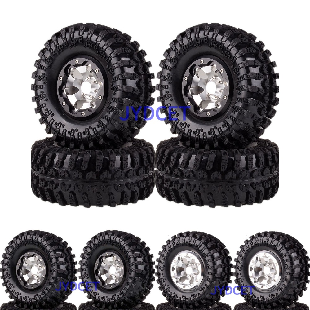 4pcs Aluminum 2.2 Beadlock Wheel Rim & Super Swamper Rocks Tyre  2023-3021 For RC 1/10 Axial Traxxas HPI4pcs Aluminum 2.2 Beadlock Wheel Rim & Super Swamper Rocks Tyre  2023-3021 For RC 1/10 Axial Traxxas HPI