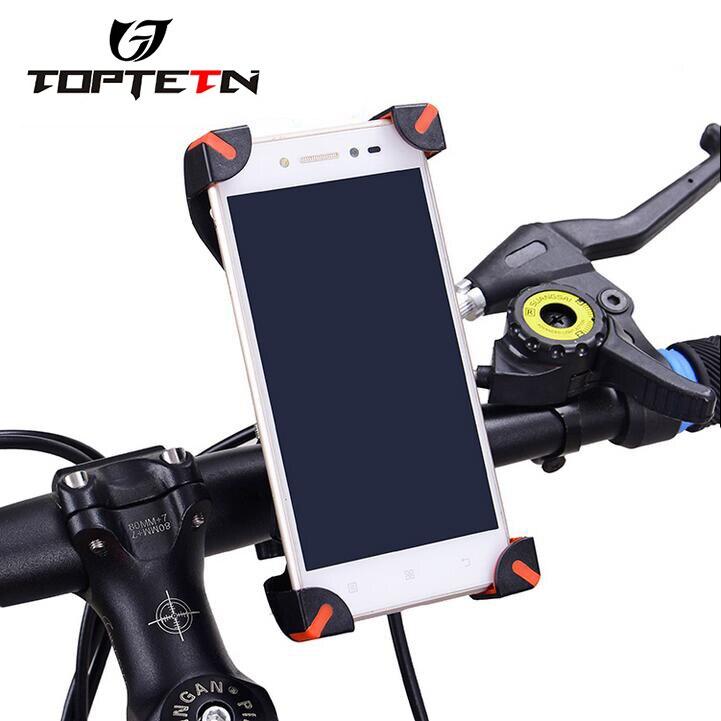Misura Adattabile Per Della Bici Bicicletta Supporto Caso Del Telefono Mobile Universale Ciclismo Manubrio Basamento T
