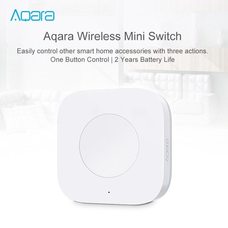 Original aqara interruptor inteligente sem fio mi ni casa inteligente controle remoto uma chave para xiao mi jia mi casa app zigbee versão