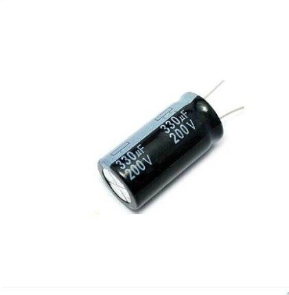 20 штук 330 мкФ 200 В 105 c радиальных электролитический конденсатор 18*35 мм-in Конденсаторы from Электронные компоненты и принадлежности on AliExpress