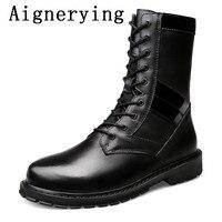 Мужские кроссовки с мехом Мужские модельные туфли большой размер модные мужские ботинки с острым носком натуральная кожа Hording жокейские са