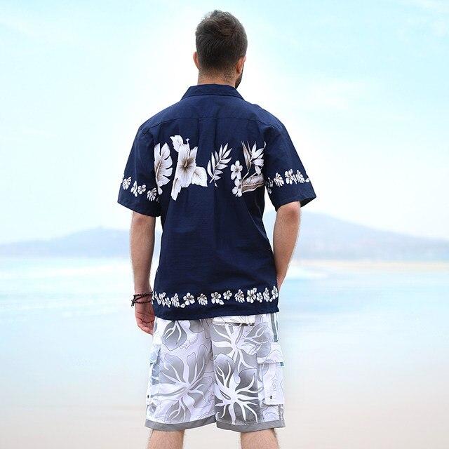 2cd4c3908cf Online Shop New 2018 Summer 100% Cotton Hawaii Holiday Beach Shirt ...