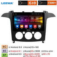 LEEWA 9 Android 8.1 8 Core/DDR3 2G/32G/Support 4G LTE Car Media Player With GPS/FM/AM Link/USB/SD For Ford S Max 2007 2008 (MT)