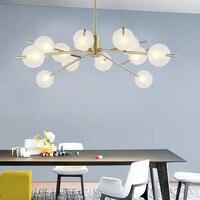 Постмодерн творческий стеклянный светодиодный светильник Nordic спальня/гостиная открытый подвесные светильники