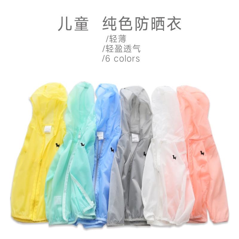 SL-138, summer children girls boys zipper sunscreen outwear, candy color long sleeve hoodies
