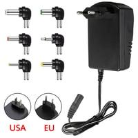 Multi напряжение 3 в 4,5 6 9V 12V 7,5 Питание адаптер конвертер кабель 6 вилки