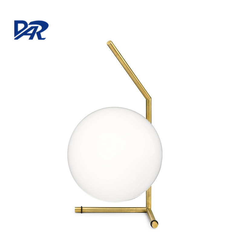 Modern Design Dia 20cm Glass Ball Table Lamp For Bedroom Study Led Bedside Night Light Art Deco Desk Light abajur para quarto american led vintage desk table lamp for bedroom living room led beside lamps lampara luminaira de mesa abajur para quarto