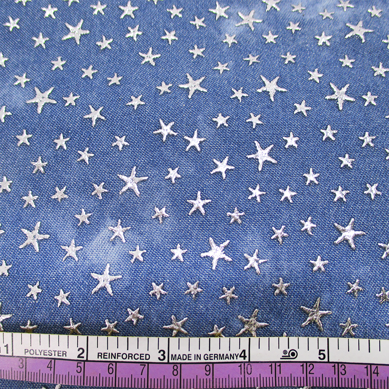 44800 50*147CM gold star denim cotton fabric for Tissue Kids Bedding textile for Sewing DIY handmade materials