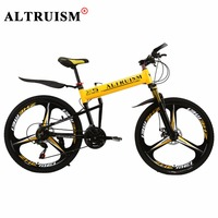 AlTRUISM X5Pro Mountain Bicycle Bisiklet 21 Speed 26 Inch Aluminium Bicycle Bmx Folding Bikes Double Disc
