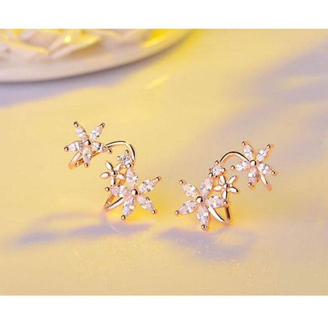 Anenjery 925 Sterling Silver Butterfly Star Flower CZ Zircon Stud Earrings pendientes oorbellen boucle d oreille.jpg 640x640 - Anenjery 925 Sterling Silver Butterfly Star Flower CZ Zircon Stud Earrings pendientes oorbellen boucle d'oreille Gift S-E329