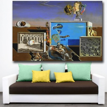 Abstract art Illumined Pleasure, Salvador Dali Canvas Painting For Living Room Home Decor Oil Painting On Canvas Wall Painting 1