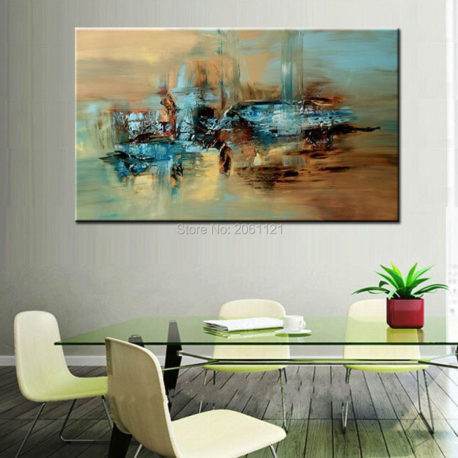 Online kopen wholesale painting abstract green uit china painting ...