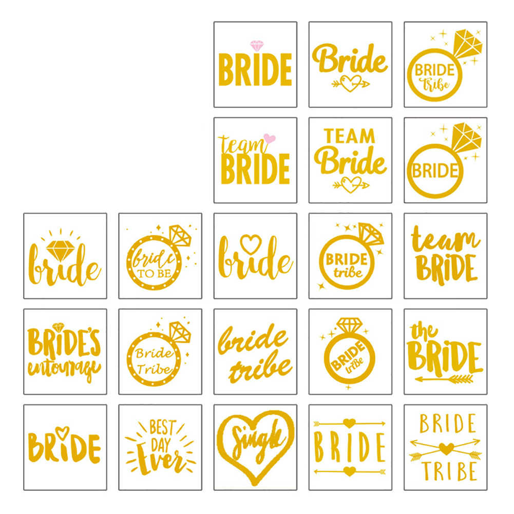2d7fb0339f347 ... 10 Sheets Party Tattoos And Bride Temporary Transfer Hen Do Accessories  Bride Tribe Bride Squad Team