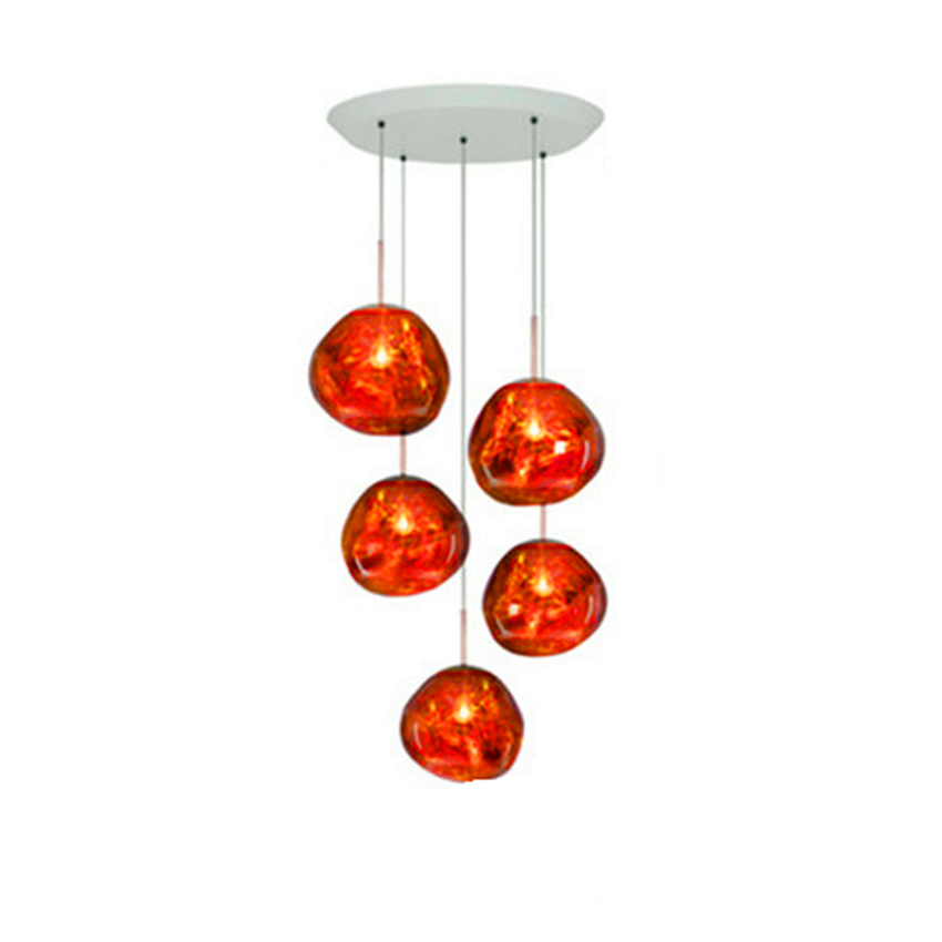 Modern LED Glass Lava Tom DIXON Pendant Light Lustre LED Luminaire Silver Hanging Hanglamp Pendant Lamp Living Room Deco Fixture