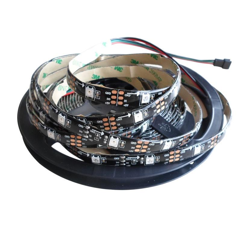 5mX Yüksək keyfiyyətli WS2812B rəqəmsal ünvanlı 5050 RGB LED - LED işıqlandırma - Fotoqrafiya 2