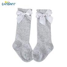 LONSANT/фирменные новые мягкие гольфы для маленьких девочек хлопковые кружевные детские носки с бантом