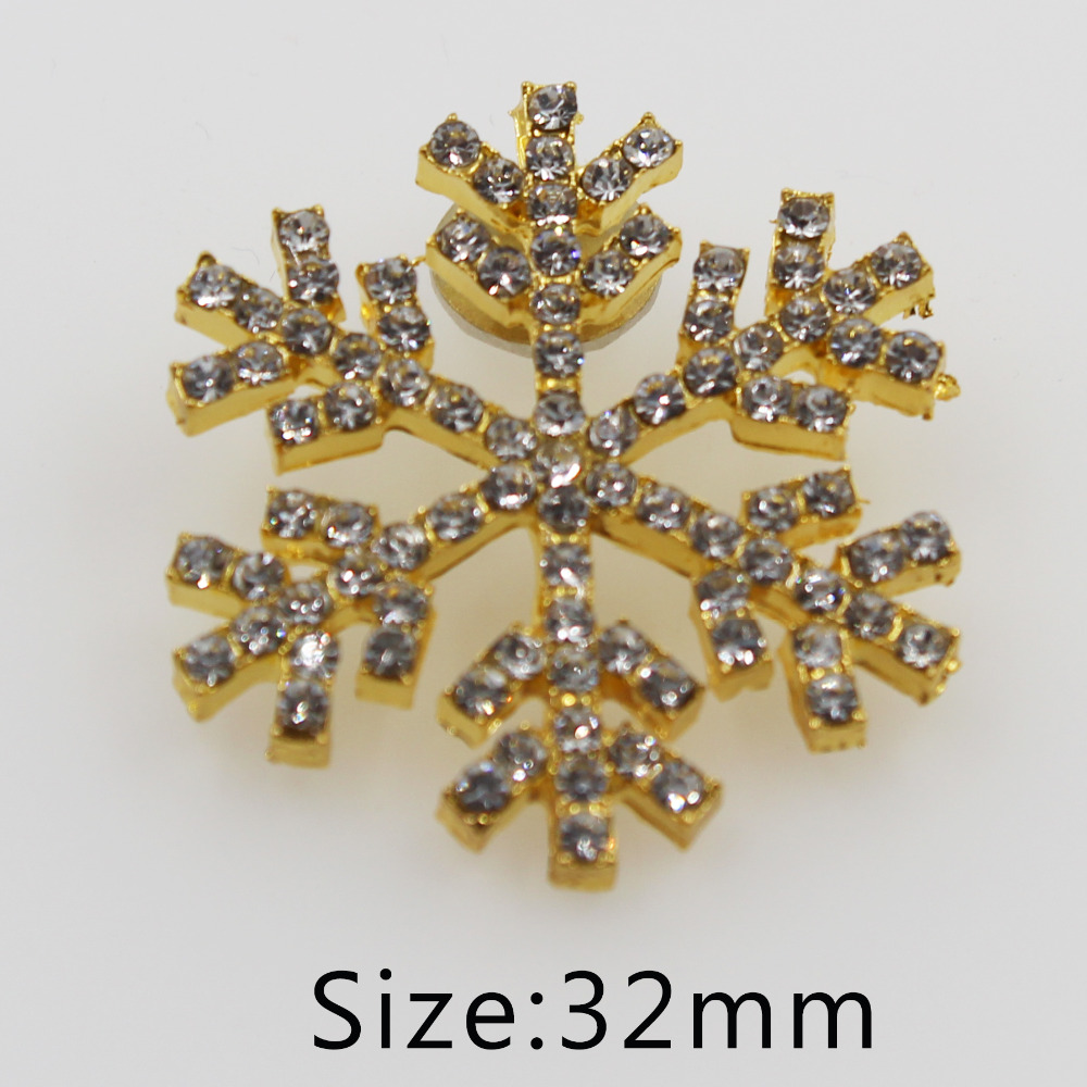 50pcs Acrylic Buttons Snowflake Sewing Scrapbooking Handwork Decor 13mm