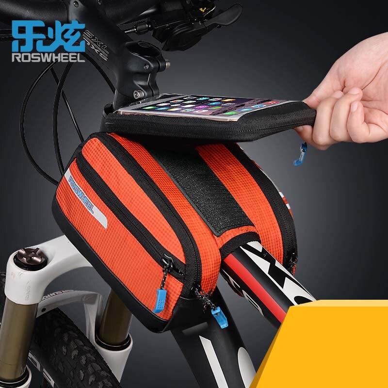 ROSWHEEL Front font b Bicycle b font font b Bags b font Panniers Basket For 5