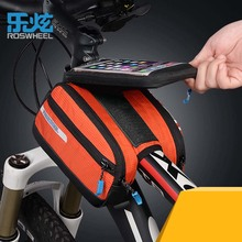 ROSWHEEL Front Bicycle Bags Panniers Basket For 5.7″ Cell Phone Bike Bags Folding MTB Road Cycle Cycling Tube Frame Saddle Bag