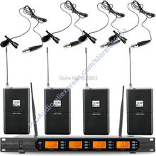 MICWL Audio M400-4B UHF 4x100 Channel Digital Wireless 4 Pocket  Microphone System with Clip-On Lavalier Lapel Mic