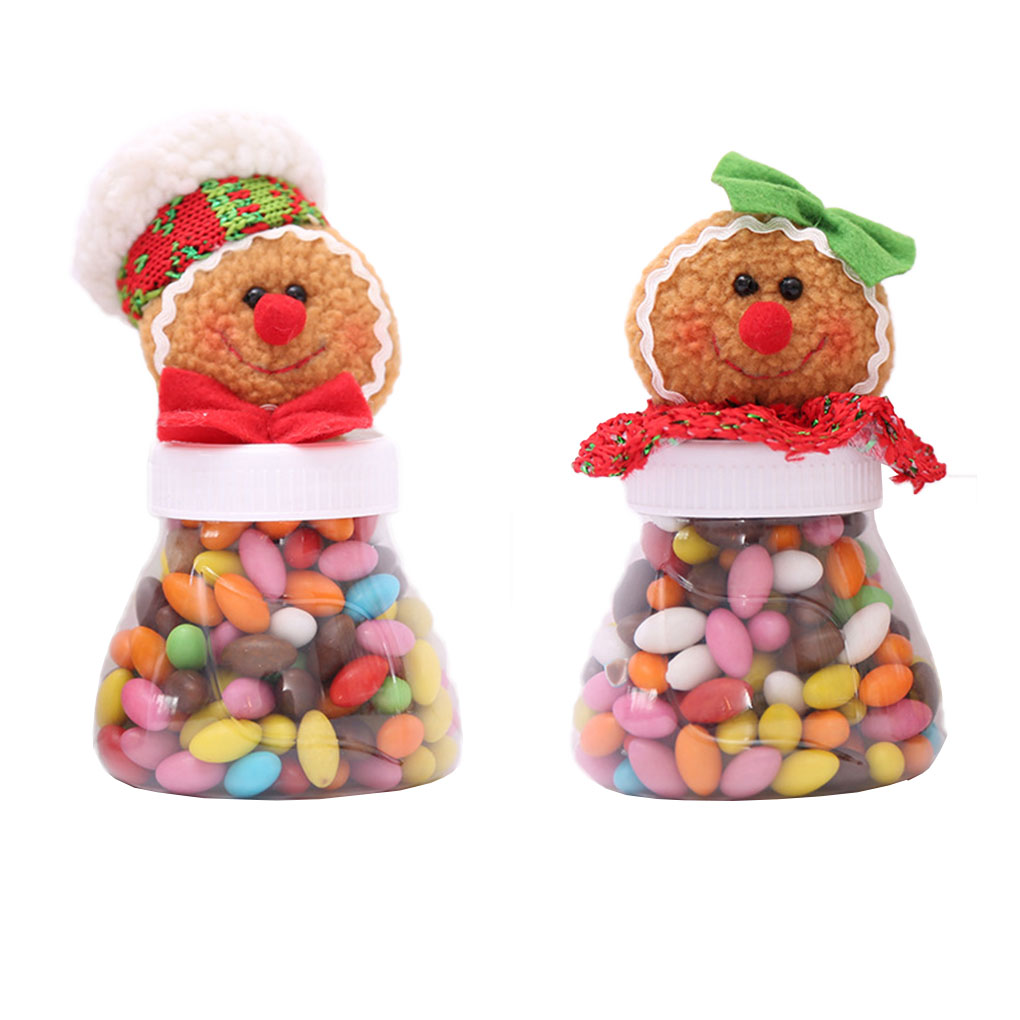 Christmas Sweets.Us 1 83 37 Off Cartoon Christmas Sweets Jar Cans Non Woven Sweets Box Sweets Gift Bags Xmas Decor In Bottles Jars Boxes From Home Garden On