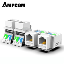 AMPCOM moduł telefoniczny bez użycia narzędzi moduł głosowy RJ11 CAT3 pozłacany Adapter gniazdo keystone C26