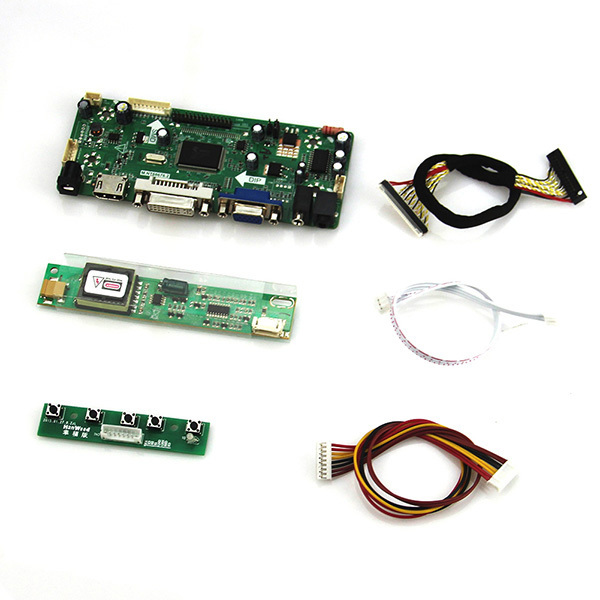 M. NT68676 LCD/LED Controller Driver Board Para Reaproveitamento Laptop LTN156AT01 1366*768 LVDS Monitor (HDMI + VGA + DVI + Audio)