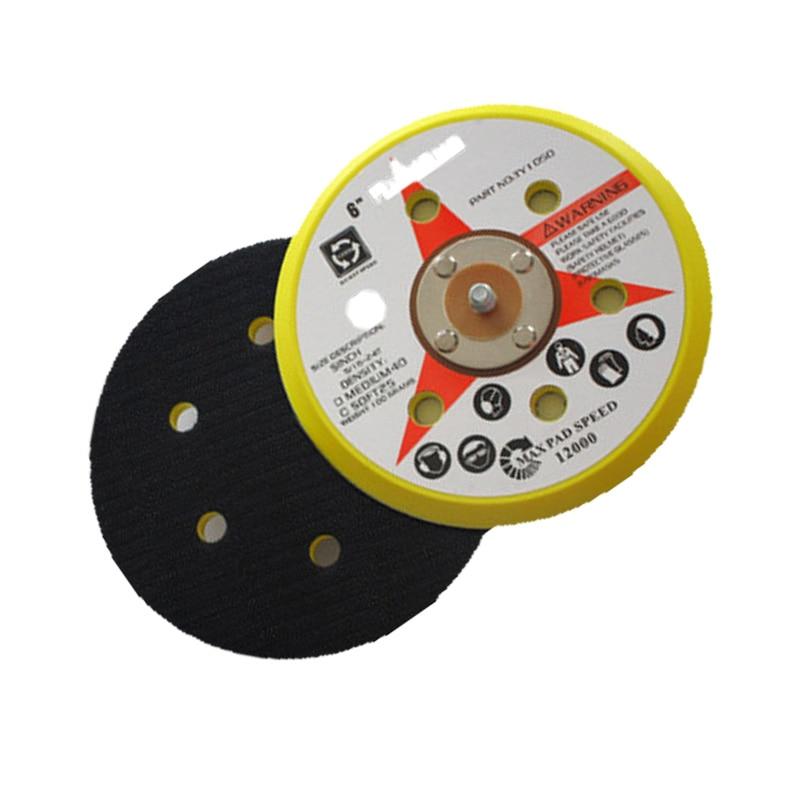 150MM 2pcs 6 Inch 6 Holes Sanding Polishing Grinding Disc Self-Adhesive Sander Accessories