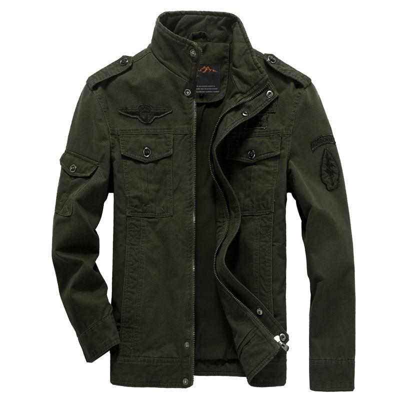 Brand Casual Man Jackets Army Spring NEW 2018 Mens Green Khaki 3 Colors Military Jacket Winter Cargo Plus size M XXXL 5XL 6XL