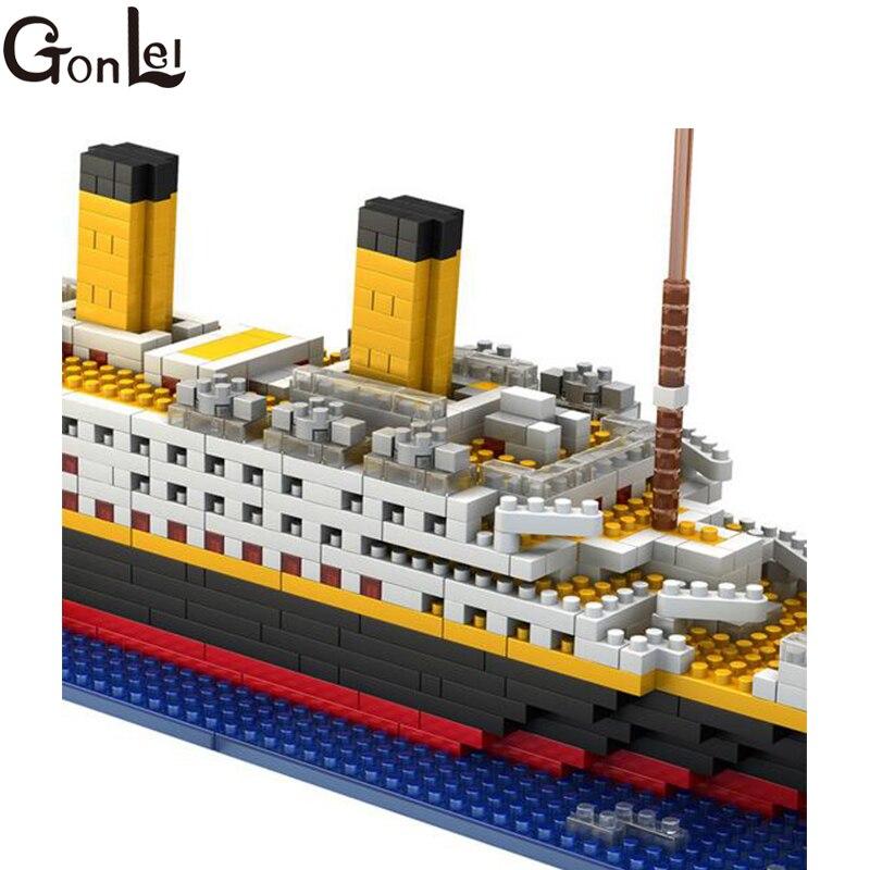 3D Boat Titanic Cruise Ship Building Bricks Blocks Sets 1860Pcs