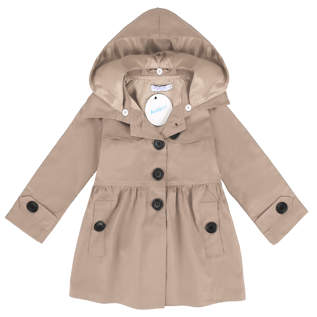 2018 Children Coats New Brand Children's Girls Clothes Outerwear & Coats Girls   Trench   Coat with Hat Hoodies Children Kids Coats