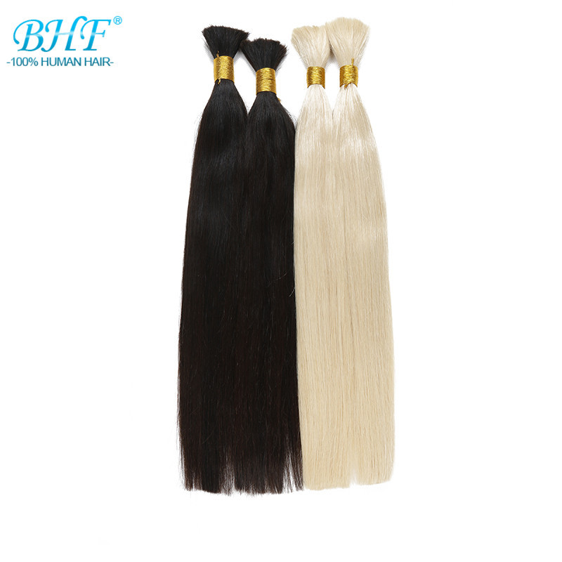 Human Hair Braiding Bulk 1#/2#/8#/613# in Stock Raw Hair Virgin Bulk 24″ Long Length Human Hair For Braiding Bulk No Attachment