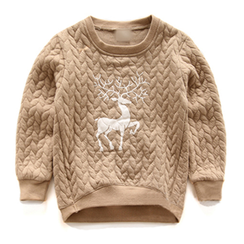 Cemigo Alta calidad Niños Moda Hoodies Niños Sudaderas Cálidos Niñas Lindos Cervatillos Suéter Moda Infantil Ropa de la Tapa