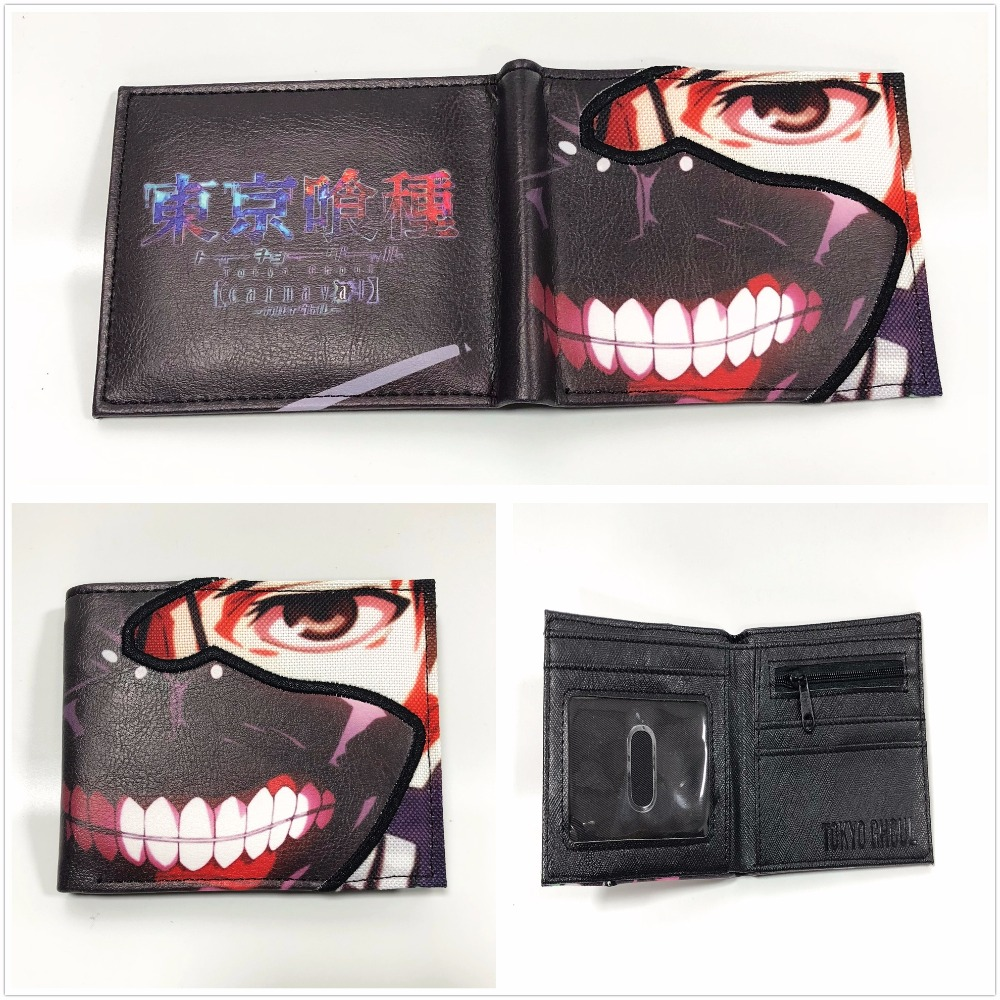 Tokyo Ghoul Wallet Anime Card Money Credit Card Holder Wallet Gift Short Wallets Game Movie Purses W840Q