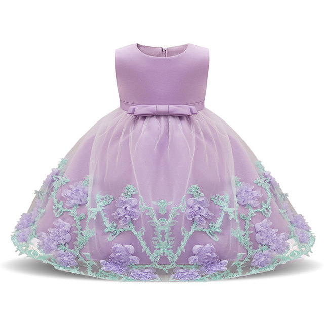Newborn Baby Girl Dress 2019 New Style Flower Lace Children Wear Dress For Wedding Party Clothing For 0-2 Years Infant Dresses