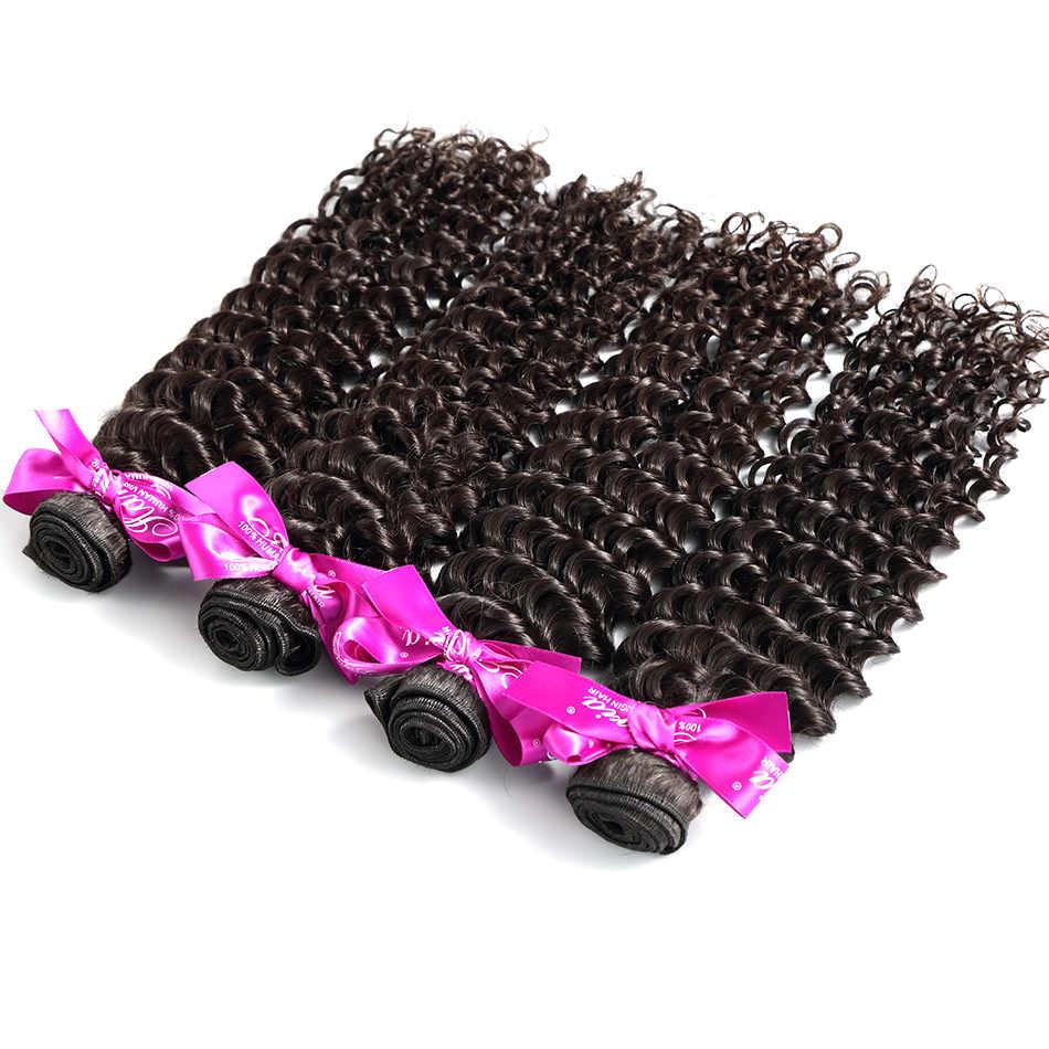 ILARIA волос 7A глубокий волна перуанских Девы пучки волос 2 шт./лот 100% вьющиеся натуральные волосы Переплетается Уток Волос Натуральный Цвет Одежда высшего качества