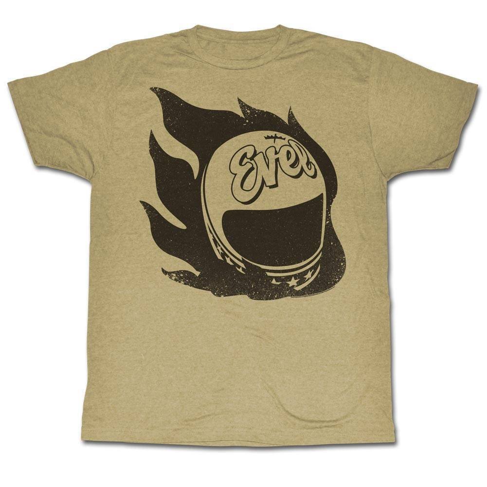 EVEL KNIEVEL Men's Short Sleeve T-Shirt KHAKI HEATHER HEADLESS STUNTMAN  Cool Casual pride t shirt men Unisex New Fashion tshirt