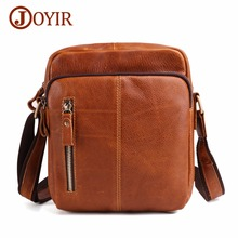 JOYIR Messenger Bag Men Shoulder bag Genuine Leather Small Flap Vintage Man Crossbody Bags For Handbag