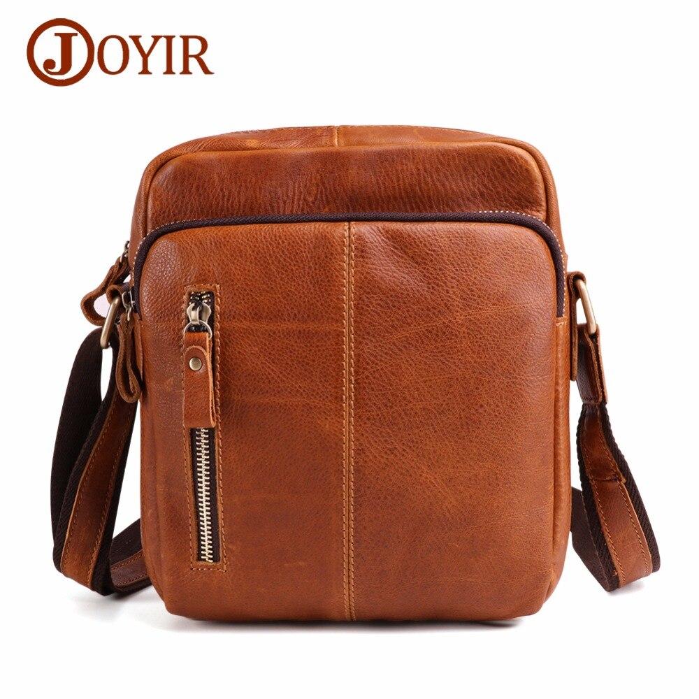 JOYIR Messenger sac hommes sac à bandoulière en cuir véritable petit rabat Vintage homme sacs à bandoulière pour Messenger hommes sac en cuir sac à main