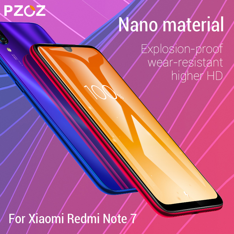 Image 2 - PZOZ For Xiaomi Redmi Note 7 8 K20 Pro 7A Screen Protector Full Cover Tempered Glass For Xiaomi Mi CC9e A3 9 Mi9 Protective Film-in Phone Screen Protectors from Cellphones & Telecommunications