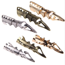 JETTING Men's Boys Punk Gothic Alloy Ring Claw Spike Armor Knuckle Joint Silver Bronze Gold Colors Full Finger Rings