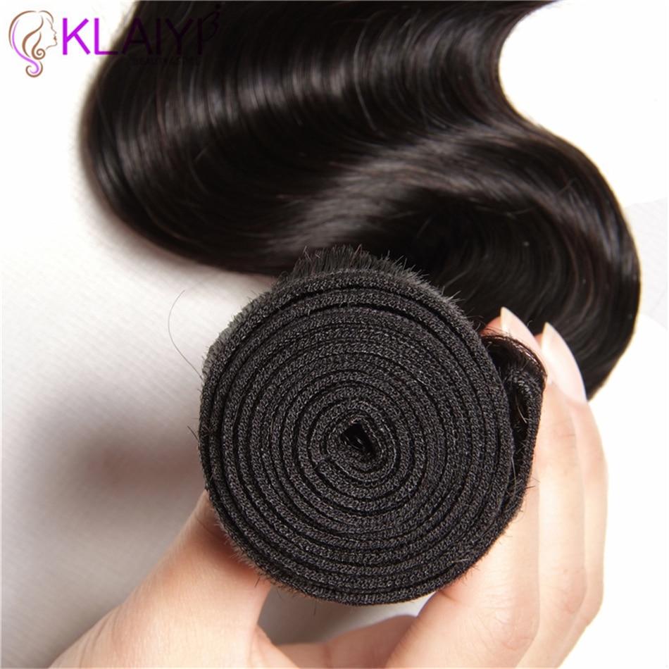 Klaiyi Hair One Piece Body Wave Bundles Brazilian Hair Weave Bundles Human Hair Natural Color Remy Hair Machine Double Weft