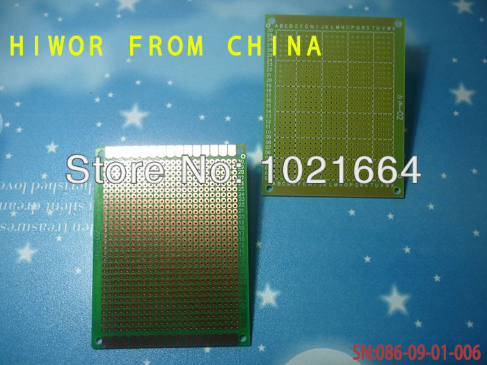 5pcs/lot Single Side Breadboad Size:7*9CM [2.76*3.54inch] pitch:2.54MM [0.1inch] glass fiber green oil Universal Board ...